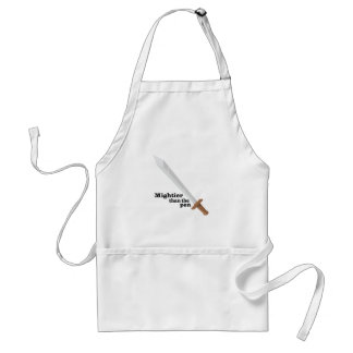 Mightier Than The Pen Adult Apron