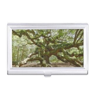 Mighty Angel Oak Business Card Case