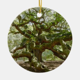 Mighty Angel Oak Ceramic Ornament