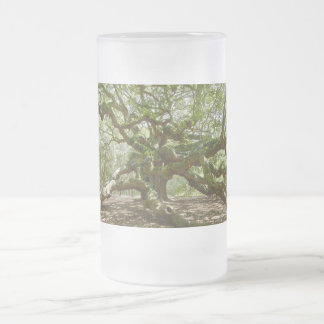 Mighty Angel Oak Frosted Glass Beer Mug
