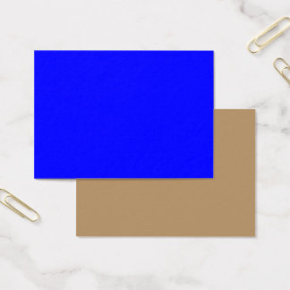 Mighty Business Card Royal Blue ~ Gold