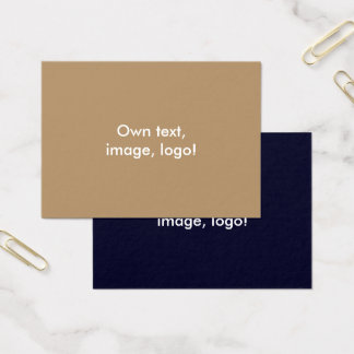 Mighty Business Cards Gold-Dark Blue
