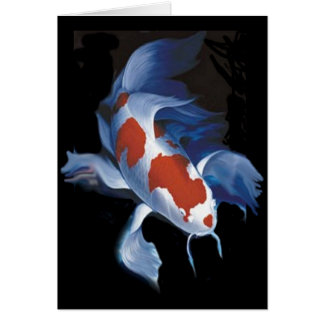 Mighty Butterfly Koi Greeting Card