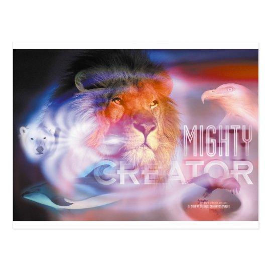 MIGHTY CREATOR - Christian art, religious, faith Postcard