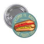 Mighty Dog Hotdog Personalized 1 Inch Round Button