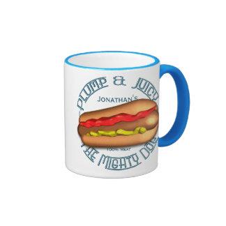 Mighty Dog Hotdog Personalized Ringer Coffee Mug