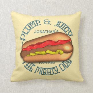 Mighty Dog Hotdog Personalized Pillow