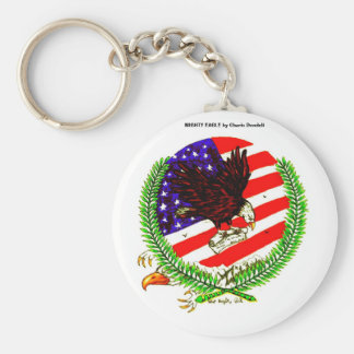 MIGHTY EAGLE, MIGHTY EAGLE by Charis Dondeli Basic Round Button Keychain
