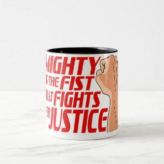 Mighty Fist Two-Tone Coffee Mug