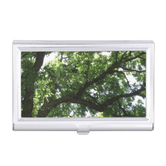 Mighty Green Tree Branch Business Card Case