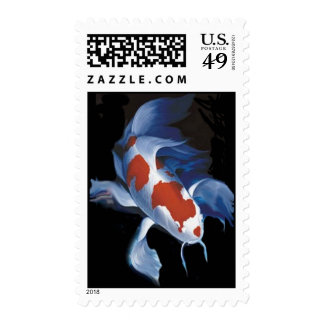 Mighty Koi Postage Stamp