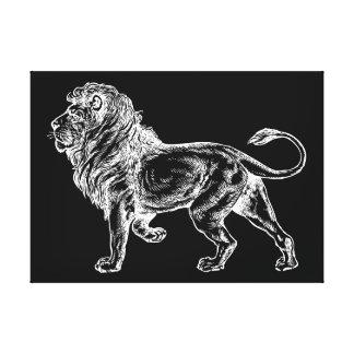 Mighty Lion Sketch Canvas Prints