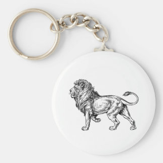 Mighty Lion Sketch Key Chains