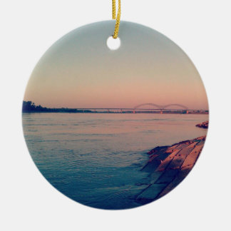 Mighty Mississippi Ceramic Ornament