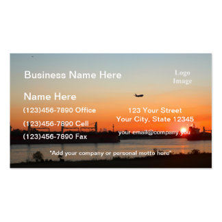 Mighty Mississippi River at Sunset Business Card Template