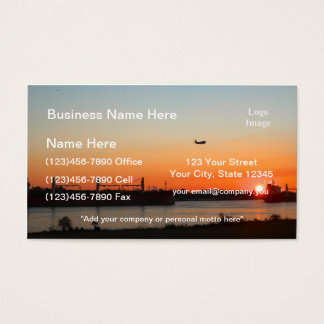 Mighty Mississippi River at Sunset Business Card