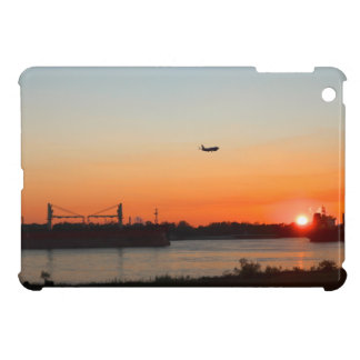 Mighty Mississippi River at Sunset iPad Mini Covers