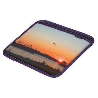 Mighty Mississippi River at Sunset iPad Sleeve