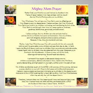 Mighty Mom Prayer Poster