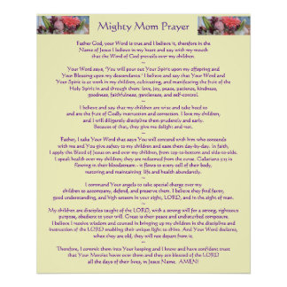 Mighty Mom Prayer Poster