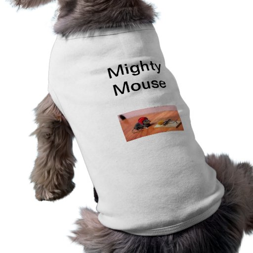 mighty mouse pet tshirt