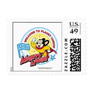 Mighty Mouse: 'Welcome to Planet' Cheese Stamps