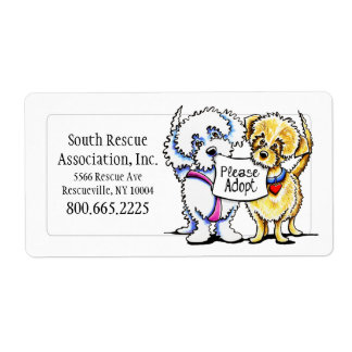 Mighty Mutts Adoption Company Personalized Label