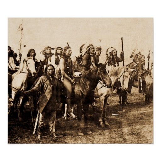 Mighty Sioux - Vintage Stereoview Poster