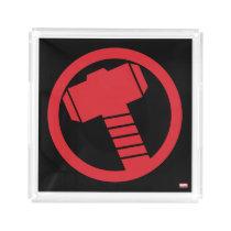 Mighty Thor Logo Acrylic Tray