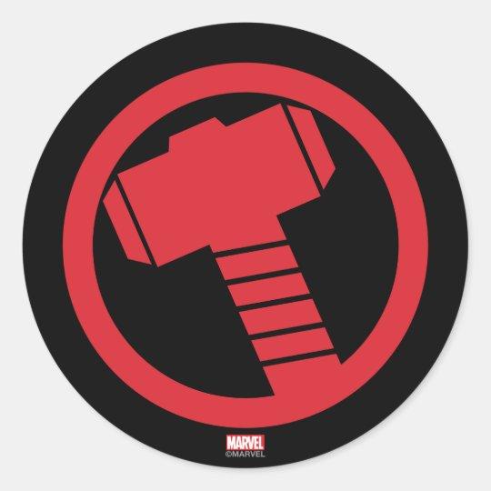 Mighty Thor Logo Classic Round Sticker   Zazzle.com