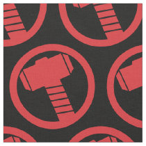 Mighty Thor Logo Fabric