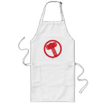 Mighty Thor Logo Long Apron