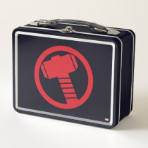 Mighty Thor Logo Metal Lunch Box