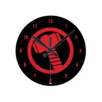 Mighty Thor Logo Round Clock