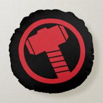 Mighty Thor Logo Round Pillow