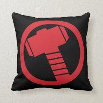 Mighty Thor Logo Throw Pillow