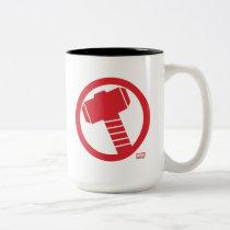 Mighty Thor Logo Two-Tone Coffee Mug
