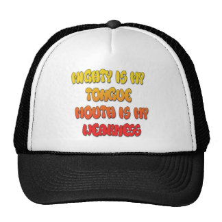 Mighty Tongue Weak Mouth pic Trucker Hat