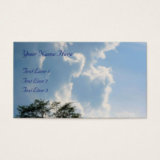 Mighty White Clouds Nature Business Card