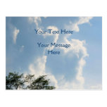Mighty White Clouds Nature Post Card