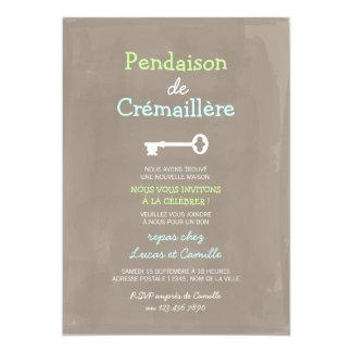 """Mignon Pendaison de Crémaillère Invitación 5"""" X 7"""""""