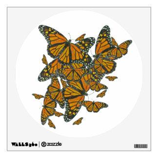 Migración de las mariposas de monarca - etiqueta vinilo