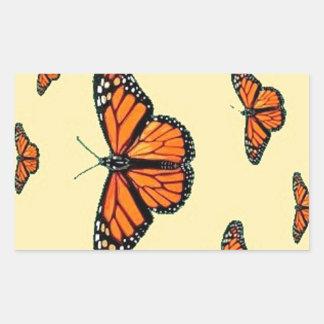 Migración de las mariposas de monarca por Sharles Rectangular Pegatinas