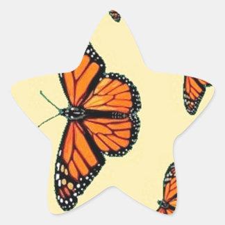 Migración de las mariposas de monarca por Sharles Pegatina Forma De Estrella