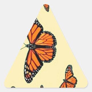 Migración de las mariposas de monarca por Sharles Calcomanía De Triangulo Personalizadas