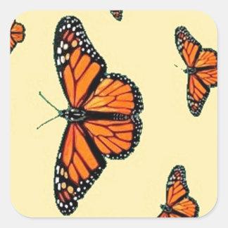 Migración de las mariposas de monarca por Sharles Pegatinas Cuadradases Personalizadas