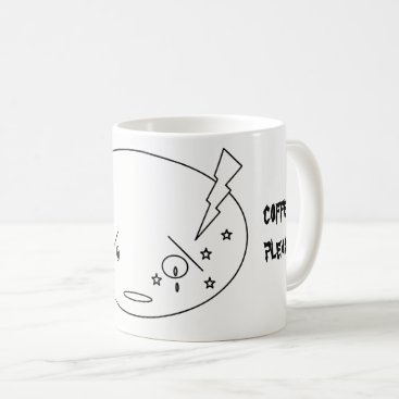 Beach Themed Migraine Attack Crying Face in Pain Design Coffee Mug