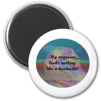 Migraine Aura 2 Inch Round Magnet