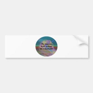 Migraine Aura Car Bumper Sticker