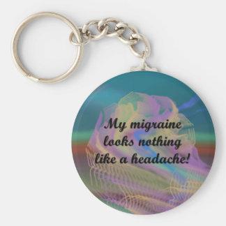 Migraine Aura Keychain